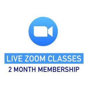 2 month membership live zoom classes
